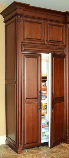 Wood panel refrigerator