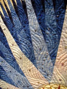 Beautiful quilting from show quilt...unknown maker.