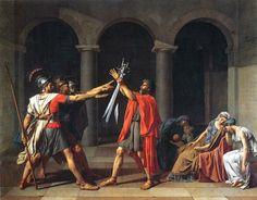 Neo-Classicism Jacques-Louis David  Oath of the Horatii (1784) oil on canvas   Paris, Musée du Louvre