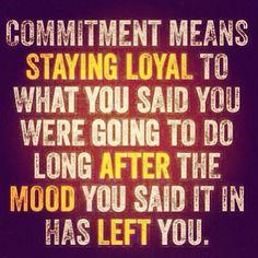 Staying loyal