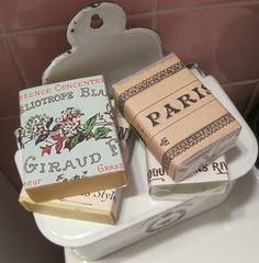 love this idea for wrapping home-made soap