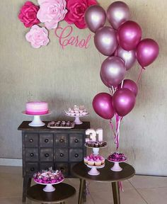 Party Tropical Decorations Simple 68 Ideas For 2019 Birthday Balloon Decorations, Birthday Balloons, Baby Shower Decorations, Birthday Table, Birthday Party Themes, Girl Birthday, Birthday Ideas, Baby Shower Menu, Deco Table
