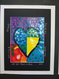 All You Need Is Love- a collaborative art activity