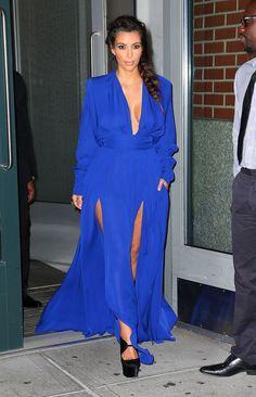 Blue dress kim kardashian 007