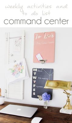 Weekly Activites and To Do List Command Center, Back to School Organization…