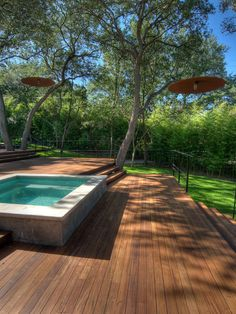 Landscape Above Ground Pool Design, Pictures, Remodel, Decor and Ideas. very Zen.