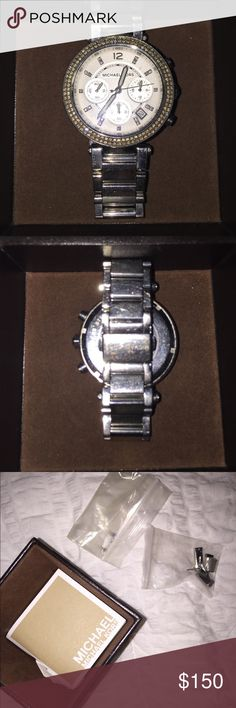 Michael Kors Studded Watch In great condition. Comes with extra links and authenticity box and card. Michael Kors Accessories