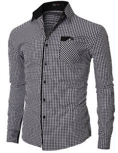 Details on collar and trim Casual Wear For Men, Casual Shirts For Men, Mens Shirt Pattern, Mens Fashion Blazer, Fashion Outfits, Only Shirt, Stylish Shirts, Formal Shirts, Well Dressed Men