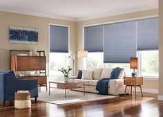 Cellular shades are one of the most versatile window coverings on the market. Their luxurious fabrics are available in three popular cell sizes and various light control levels so that you can create the perfect setting. Cellular Shades, sometimes referred to as pleated or honeycomb shades, are built with small honeycomb-shaped pockets or 'cells' designed to keep air from escaping or entering your home to enhance your room's energy efficiency.