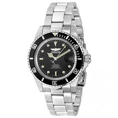 Invicta Pro Diver Men's Automatic Watch with Black Dial  Display and Silver Stainless Steel Bracelet 8926OB Invicta http://www.amazon.co.uk/dp/B000JQFX1G/ref=cm_sw_r_pi_dp_xD9cwb1JMTCDB
