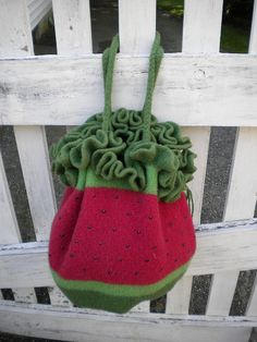 Ravelry: DRAWSTRING Pattern Supplement: How to Create the Watermelon Look pattern by Jennifer Pace, Pipp's Purses Crochet Bags, Knit Crochet, Fibre And Fabric, Ravelry, Watermelon, Purses And Bags, Knitting Patterns, Fiber, Create