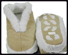Echtleder Hausschuhe Pantoffel Damen Herren ABS Stopper Fell beige Gr: 35-52 (sch43) 42 beige - Hausschuhe für frauen (*Partner-Link)