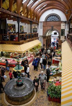 The Cork English Market is a covered market for fish, fruit, meat and vegetables. It is one of the oldest of its kind and has been trading since 1788.