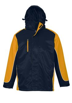 UNISEX NITRO JACKET - NAVY/GOLD/WHITE - BIZ COLLECTION Navy Gold, Rugby, Red And White, Athletic, Unisex, Hoodies, Jackets, Collection, Tops