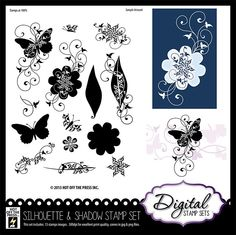 Digital Scrapbooking & Digital Stamps by Hot Off The Press     Silhouette & Shadows Digital Stamp Set by Hot Off The Press Inc (4006915)  Bought it, downloaded it, and LOVE it!  You can do all kinds of creative ways to use these!!!