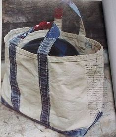 I love all the projects on this site. In Japanese and has a great design aesthetic. Sac Vanessa Bruno, Diy Bags Purses, Latest Bags, Linen Bag, Denim Bag, Big Bags, Fabric Bags, Handmade Bags, Fashion Bags