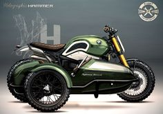 BMW R nineT Scrambler Sidecar design by Holographic Hammer #motorcyclesdesign #diseñodemotos | caferacerpasion.com