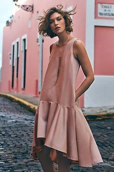 Camellia Dropwaist Dress by Maeve available at Anthropologie Supernatural Style Spring Dresses, Women's Dresses, Dress Outfits, Drop Waist Dresses, Short Dresses, Frilly Dresses, Flapper Dresses, Floral Dresses, Looks Street Style