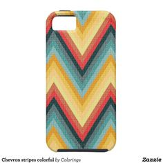 Chevron stripes colorful cover for iPhone 5/5S #pattern #iphonecases #iphonecase