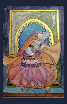 Dancing Rani Rat Card by Drusilla on Etsy