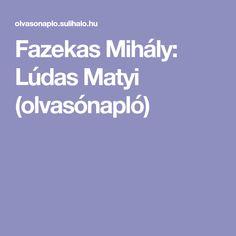 Fazekas Mihály: Lúdas Matyi (olvasónapló)