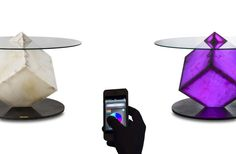 design modern table Avant Garde Cupiditas Table Controllable by Smartphone or Tablet