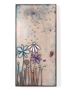 Jenn Bell Tile Collection 6x12 Enameled Copper Wall Art