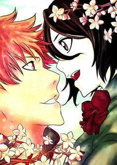 Rukia x Ichigo love the contrast