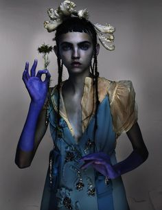 """Molly Bair in """"Best New Romantics"""" / Photographed by Nick Knight / Styled by Amanda Harlech, for V Magazine Fall 2015"""