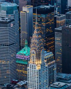 My two favorite buildings in NYC, the Chrysler and the Helmsley