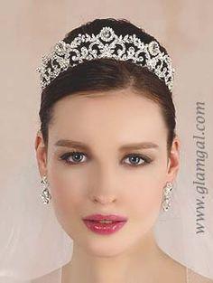 Elegant, High Quality royal inspired bridal tiaras with Swarovski crystals, rhinestones and pearls from GlamGal Designs Bridal