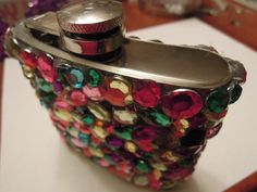 Fabulous Rhinestone flask 6 oz by quinsequin on Etsy. , via Etsy. Would love it if @newcreationz.etsy would feature this item in one of their posts. Bc it's just so beautiful!