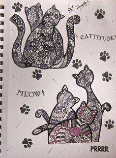 My cat doodles.