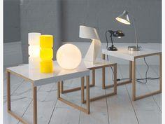 LOUIE WHITES Glass Large white glass table lamp - Habitat