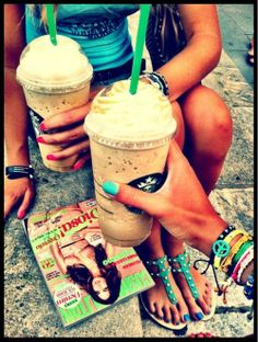 there's nothing better on a hot summer day than Starbucks frappes and best friends Summer Breeze, Summer Of Love, Summer 2014, Summer Days, Summer Vibes, Spring Summer, Nespresso, Summertime Sadness, Flip Flops