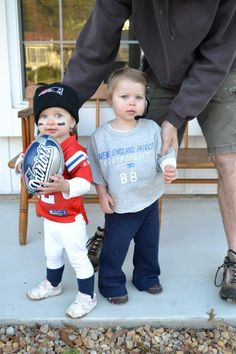 Brady and Belichick. Best kid's costume ever.