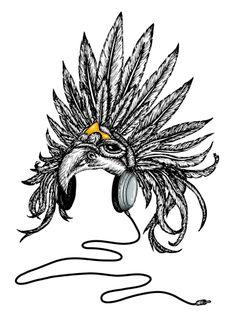 cool skull art related keywords   suggestions cool skull Indian Warrior Logo Indian Chief Skull Logo