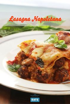 We all know about lasagna Bolognese, the Northern Italian casserole made with fresh pasta layered with cheese sauce and a slow-cooked meat sauce enriched with cream. But what if I told you that there was another lasagna out there every bit as decadent, involved, rib-sticking, and delicious? I introduce to you Lasagna Napoletana, a lasagna that comes stuffed with an insanely meaty and savory red sauce, small meatballs, slices of sausage, and not one, not two, not even three, but four types…