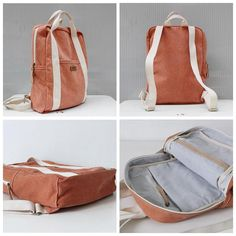 Handmade summer canvas school backpack travel backpack casual hiking rucksack lisabag premium anti theft laptop backpack with usb port Diy Backpack, Laptop Backpack, Travel Backpack, Rucksack Backpack, Laptop Bags, Canvas Backpack, Mochila Tutorial, Mochila Jeans, Bag Essentials