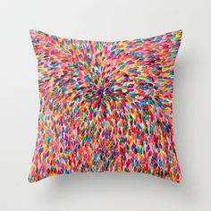 Colorful Throw Pillow by Aeropagita Prints - $20.00