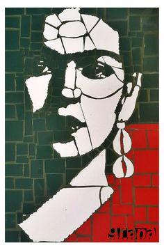 Retrato Frida - Técnica Mosaico