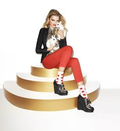 Lily Donaldson by Terry Richardson for Aldo Holiday 2011 campaign