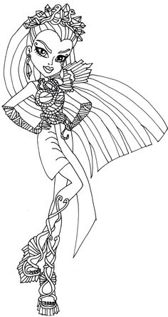 monster high coloring pages catty noir costume | Pin by Dana Kroh on Coloring pages | Coloring pages ...