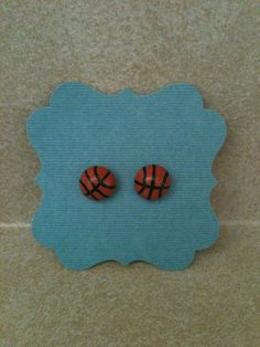 Basketball Studs Surgical Steel Post Earrings