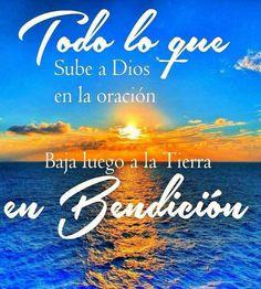 Dios recibo las bendiciones del cielo en mi vida.