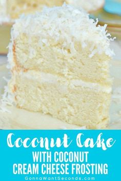 This Coconut Cake with Coconut Cream Cheese Frosting is loaded with amazing coconut flavor in every bite! Homemade all from scratch with a secret ingredient cake decorating recipes kuchen kindergeburtstag cakes ideas Coconut Cake Easy, Coconut Frosting, Coconut Cake From Scratch, Coconut Cakes, Best Coconut Cake Recipe, Lemon Cakes, Paula Deen Coconut Cake, Sour Cream Coconut Cake, Gluten Free Coconut Cake