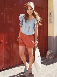 """""""Pumpkin shorts"""" by Valentine Hello on LOOKBOOK.nu"""