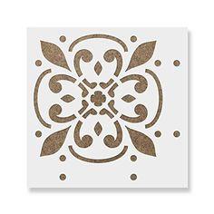 (15cm x 15cm) - Icarus Tile Stencil - Reusable Floor & Backsplash Mediterranean Tile Stencils for Home Decor, Furniture, and Walls 15cm x 15cm