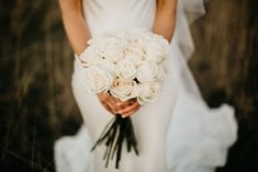 Emma's bouquet of perfect Columbian roses is one for the ages. Pronovias Dresses, Pronovias Wedding Dress, Wedding Bouquets, Wedding Flowers, Wedding Dresses, Male Bridesmaid, Hunter Valley Wedding, Flower Invitation, Bridal Suite