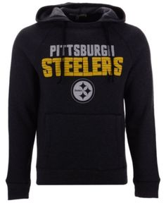 257d3399c79 Authentic Nfl Apparel Men s Pittsburgh Steelers Out  amp  Up Hooded  Sweatshirt - Gray XXL Nfl